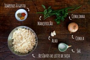 ingredientes do hambúrguer de soja