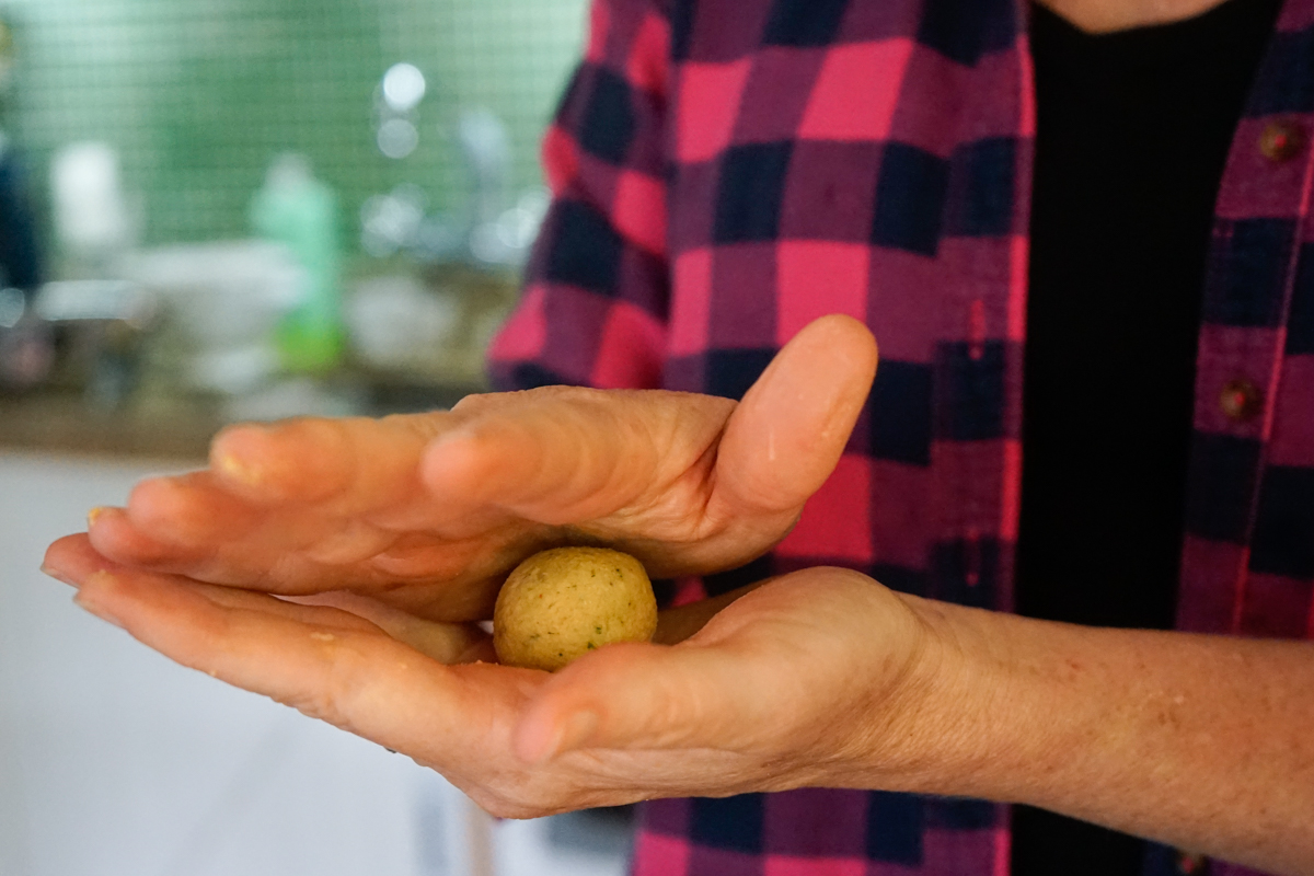 como fazer almondega vegetariana