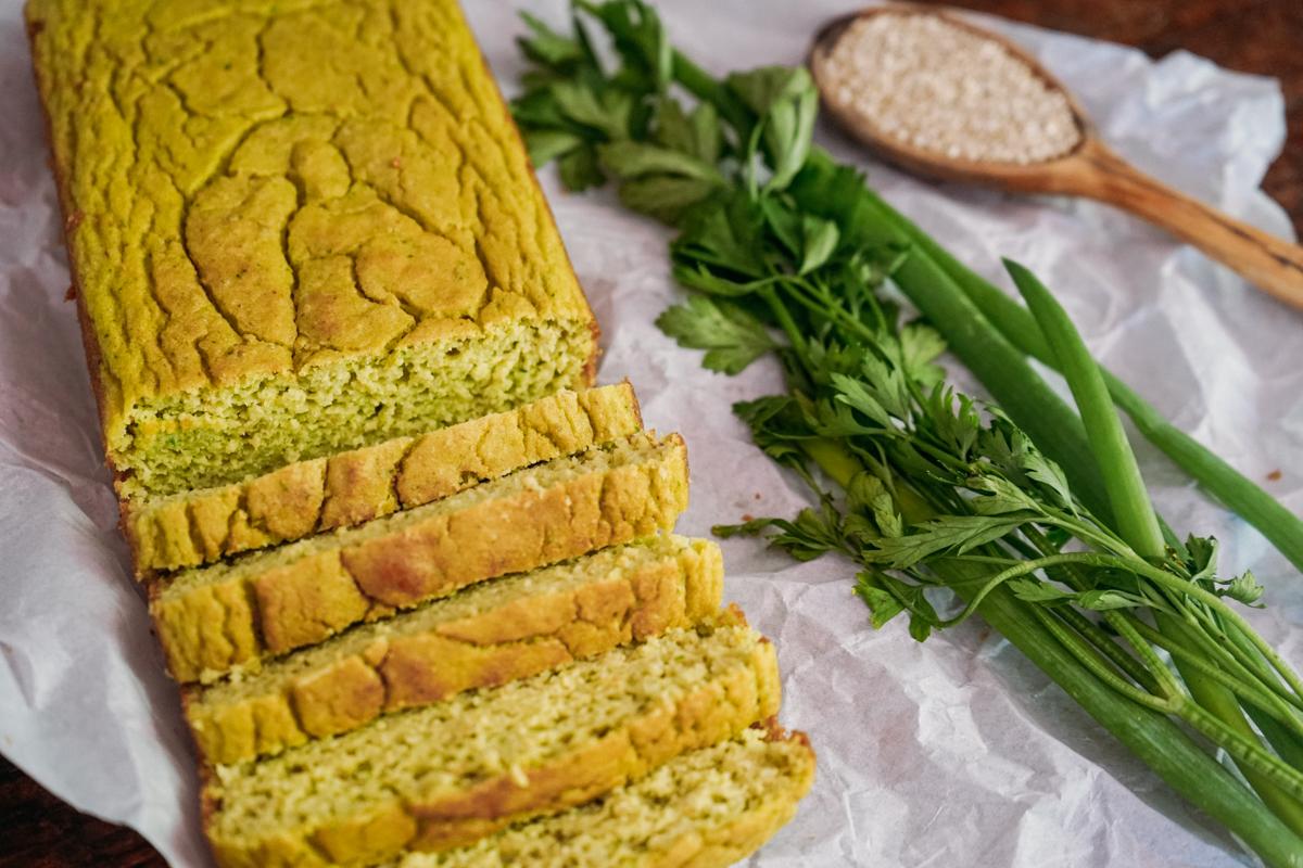 pão de quínua e abobrinha low carb