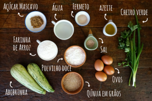 Ingredientes Pão de Abobrinha