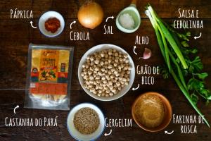 Almôndegas veganas de grão de bico e castanha do Pará