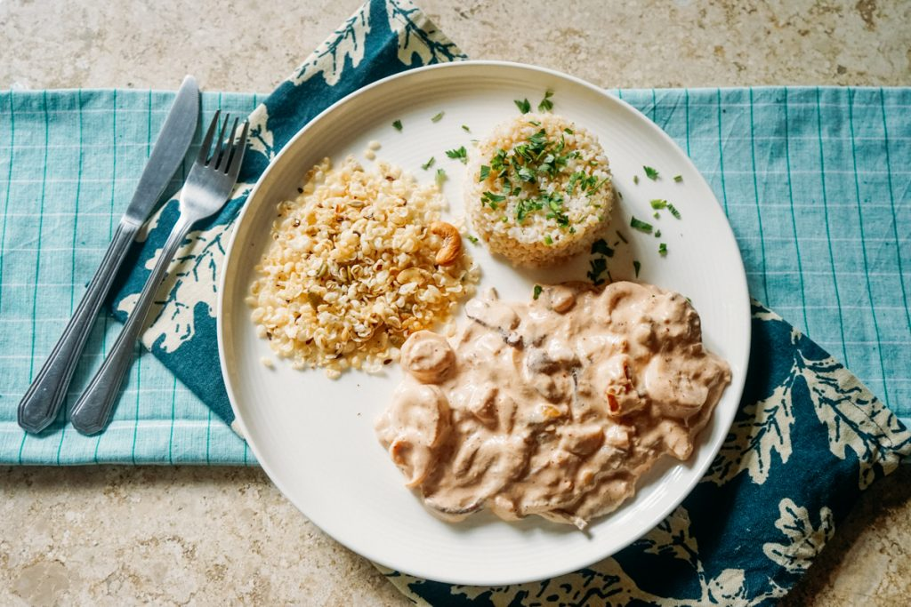 Receita: strogonoff vegano de shitake com palmito