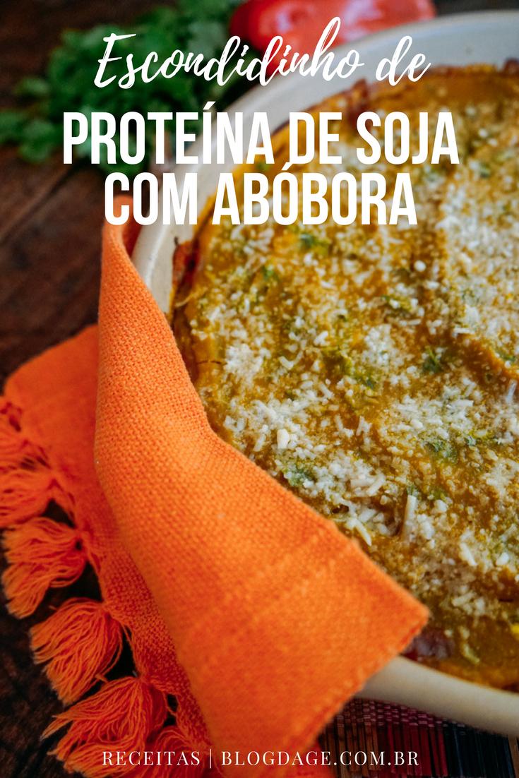 Escondidinho de proteína de soja com abóbora
