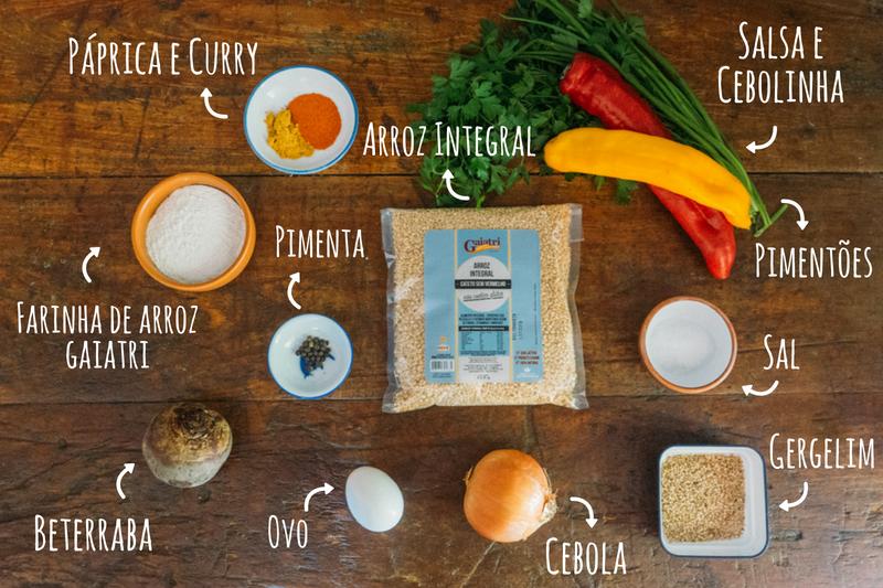 ingredientes bolinho de arroz