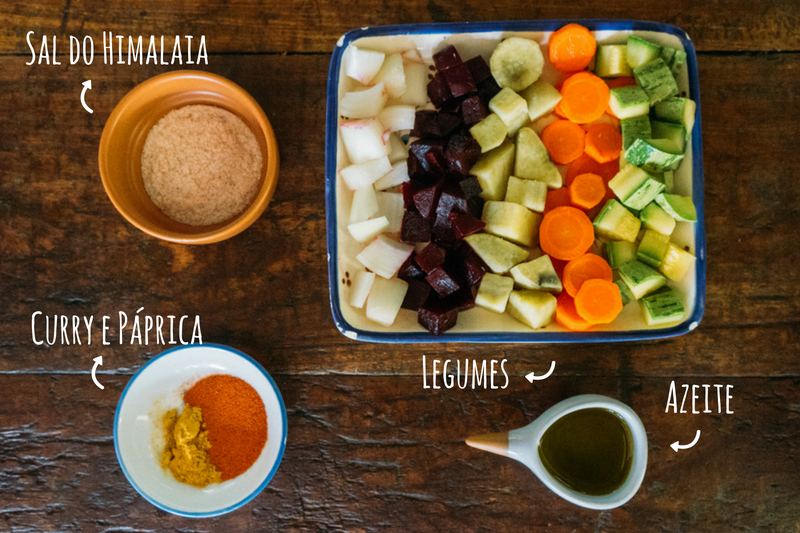 ingredientes legumes ao forno