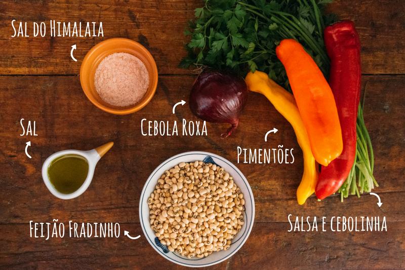 ingredientes salada de feijão fradinho