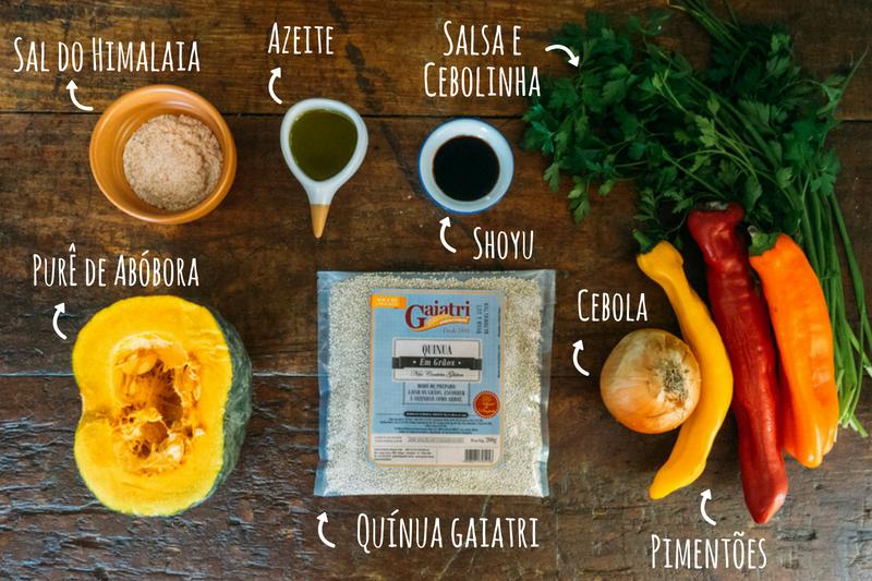 ingredientes quibe de quinua com abobora