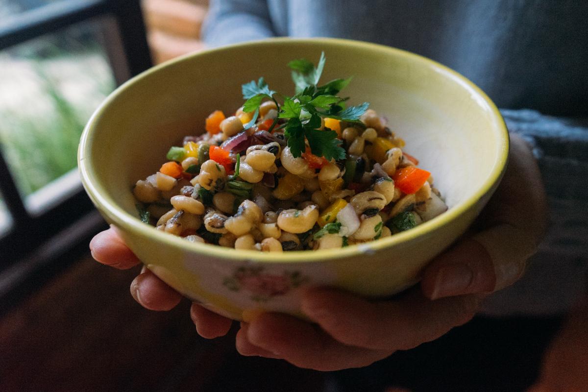 como fazer salada de feijão fradinho