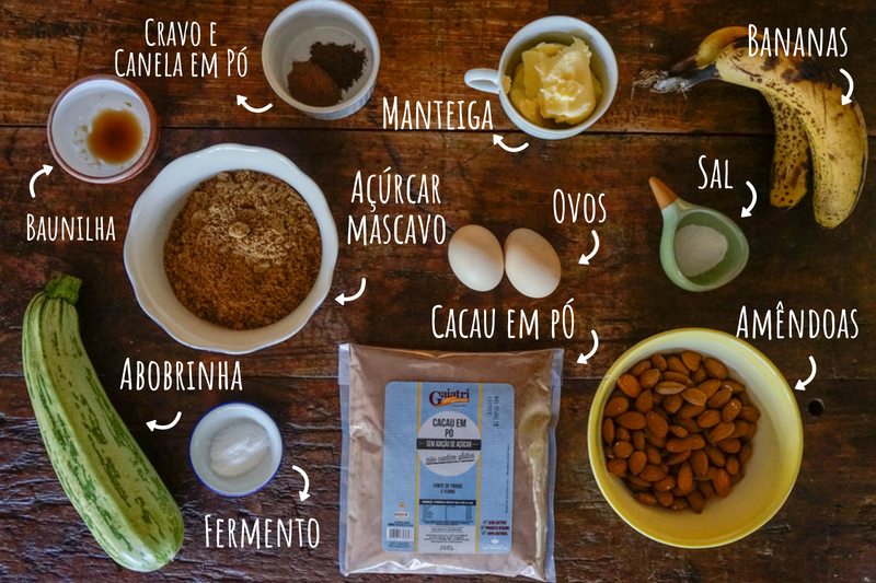 Ingredientes Bolo de Cacau Low Carb