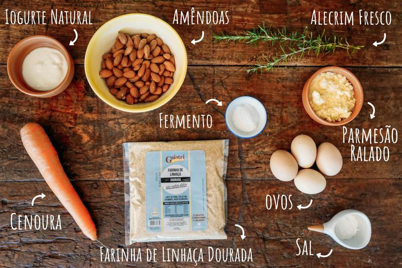 Ingredientes Pão de Cenoura Low Carb