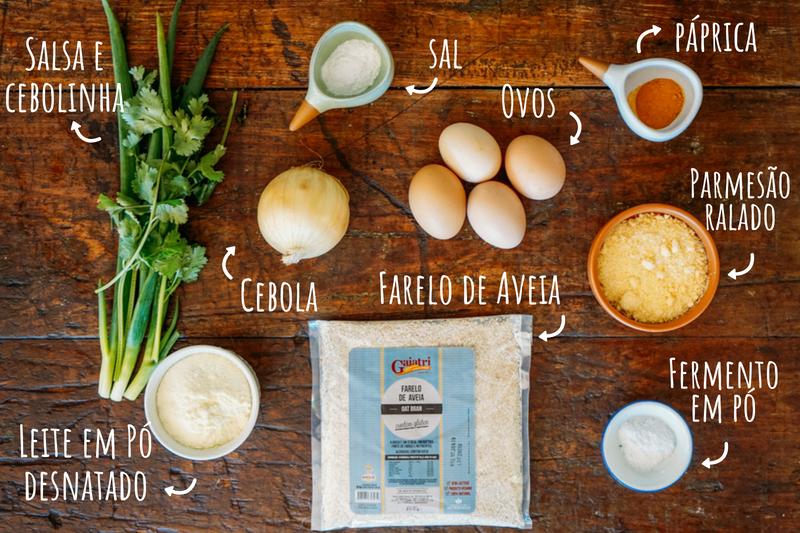 Ingredientes Pão de Cebola