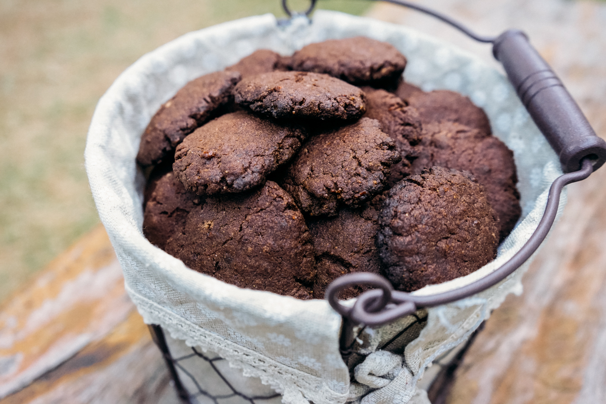 cookie de cacau vegano