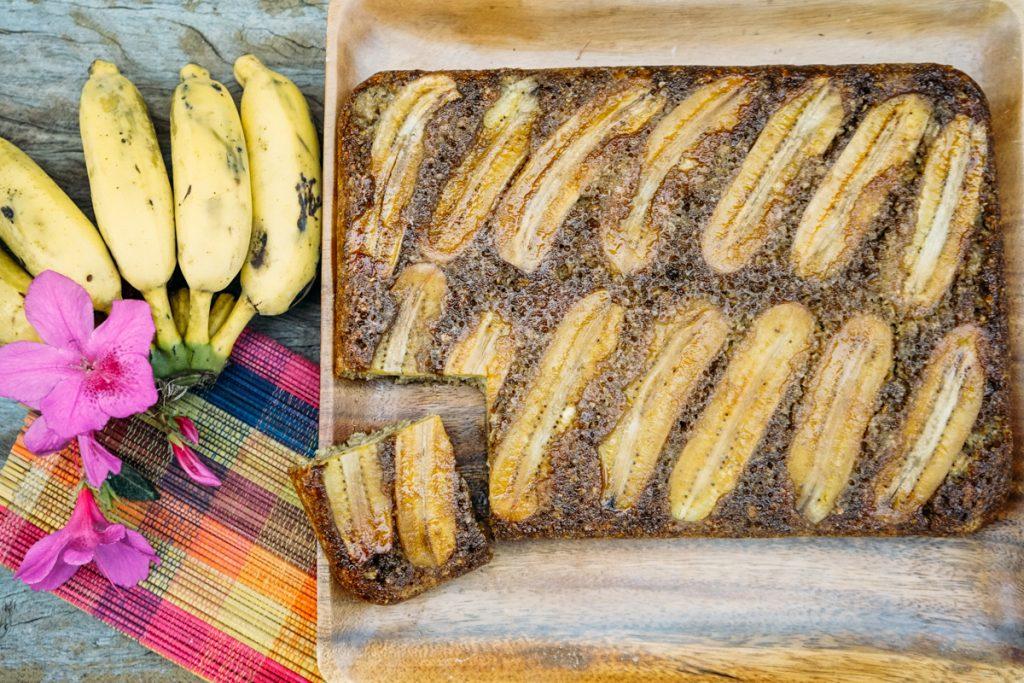 Receita: bolo de banana vegano