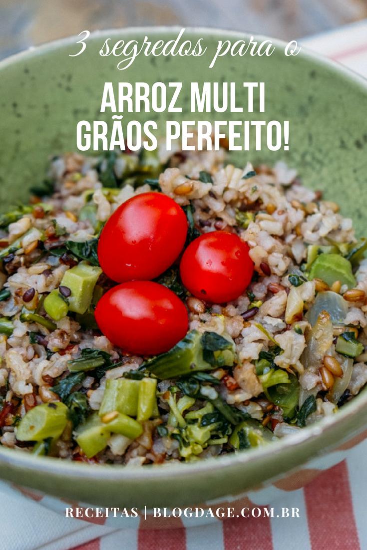 3 segredos para o arroz multi grãos perfeito