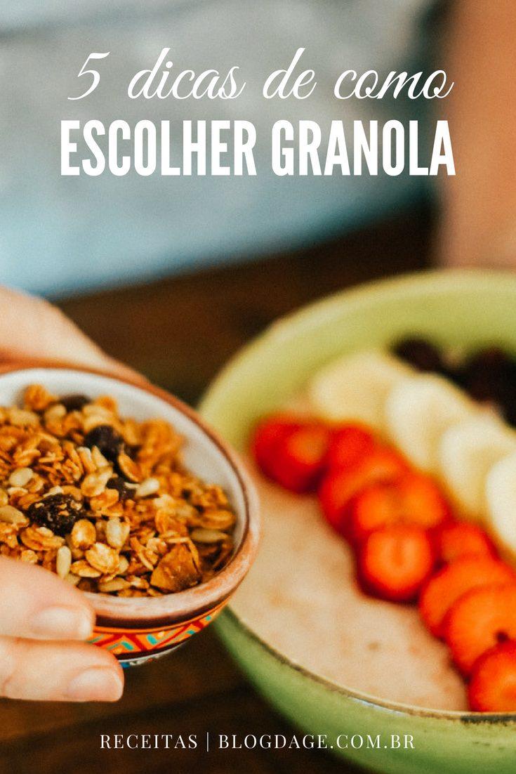 como escolher sua granola