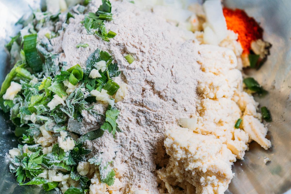almôndegas veganas de soja
