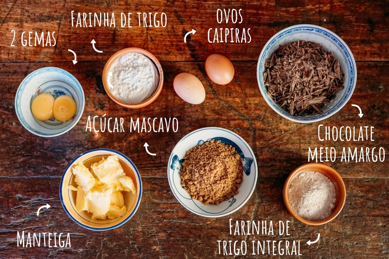 Ingredientes petit gateau