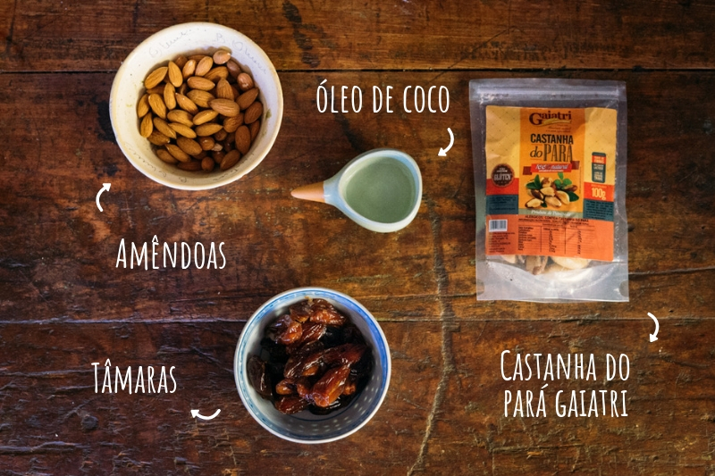 Ingredientes biscoito de amendoa vegano