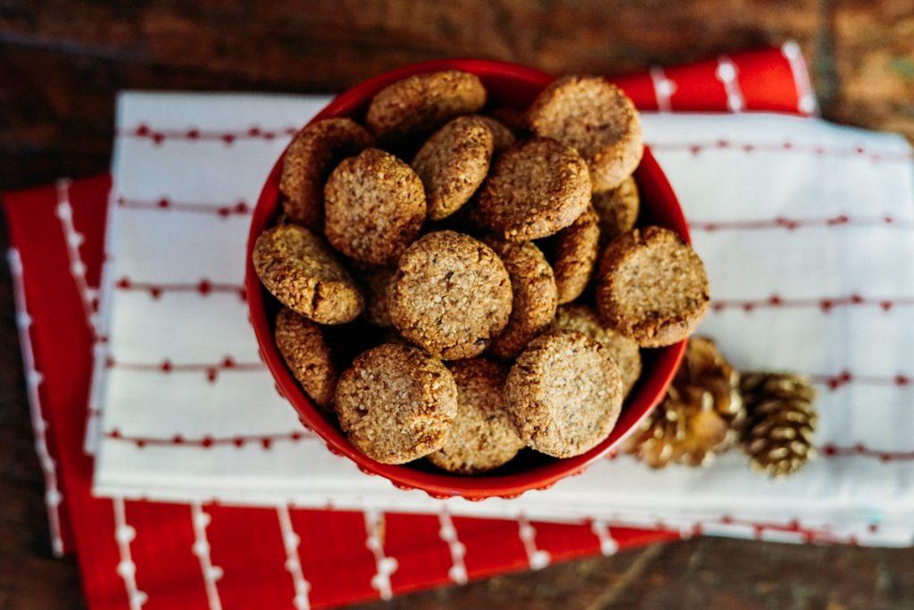 Reeita de Biscoito de amendoas natalino