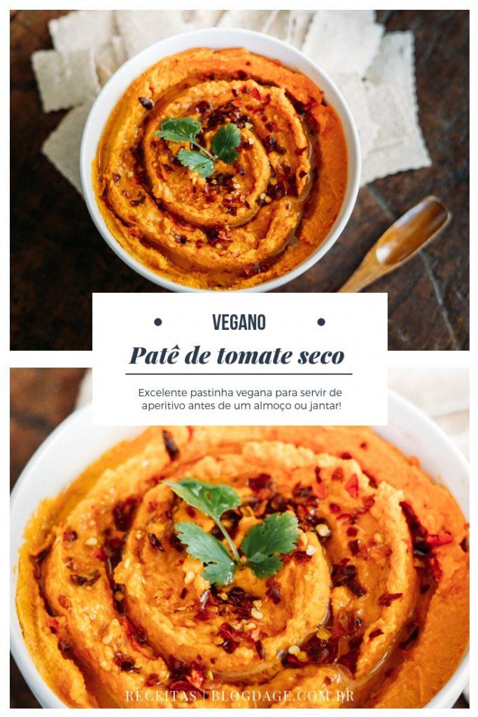 Patê vegano de tomate seco