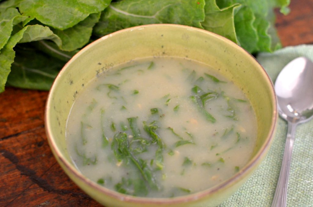Receita de caldo verde vegetariano