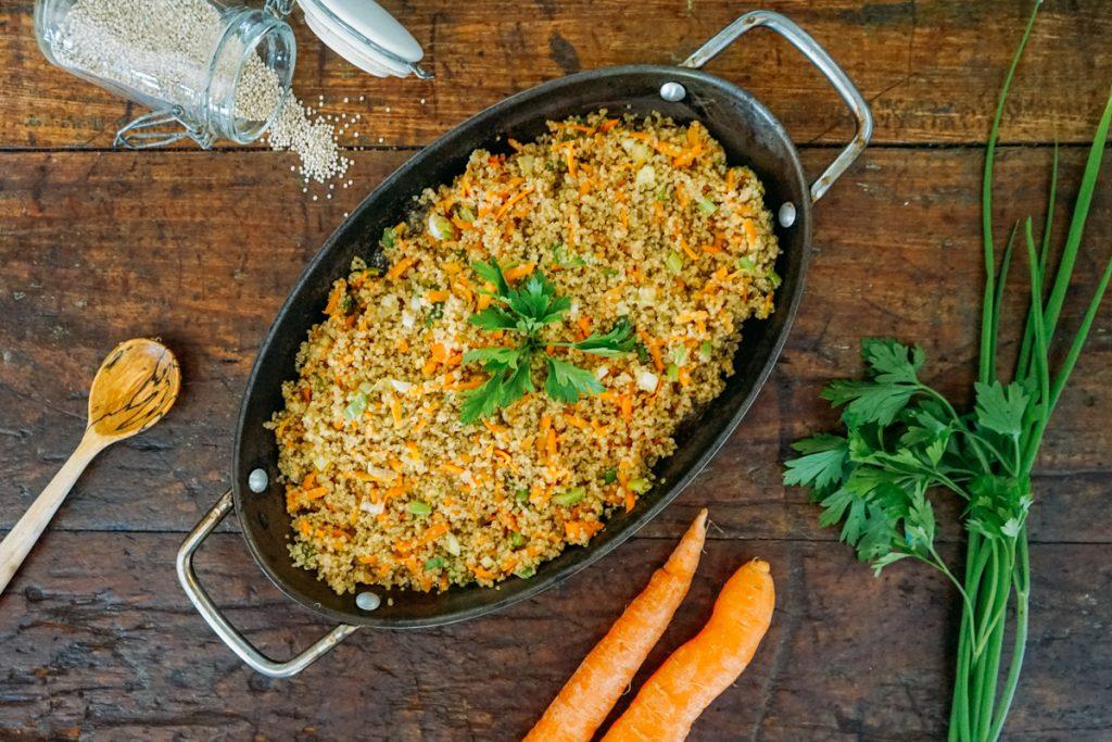 Farofa de quínua Farofa de quinoa